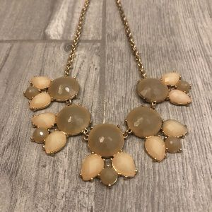 Neutral Colored Statement Necklace